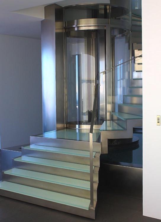 Full glass home elevator 360°