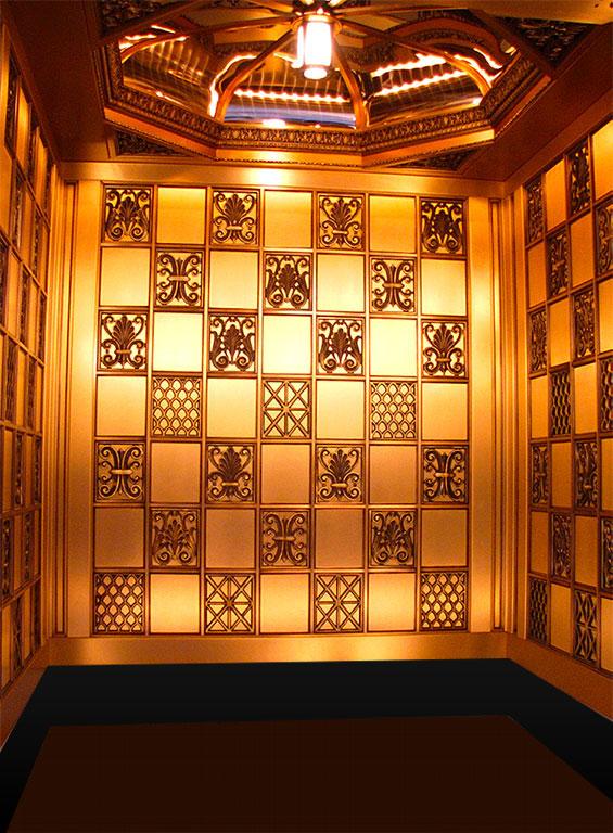 Vintage elevator design