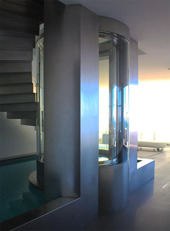 Luxury beach house elevator