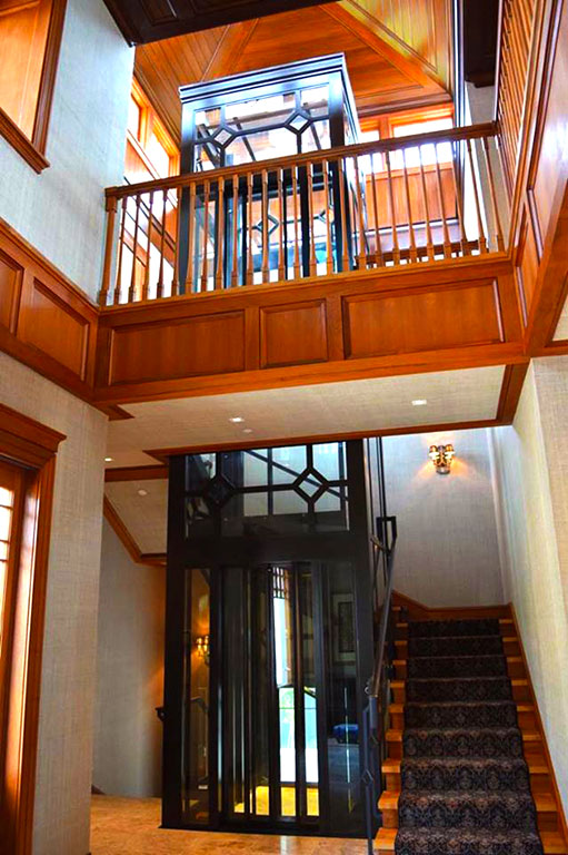 High end residential elevator designed and manufactured by Roys Rise