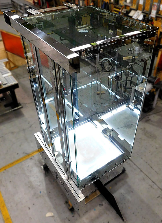 Full glass elevator design