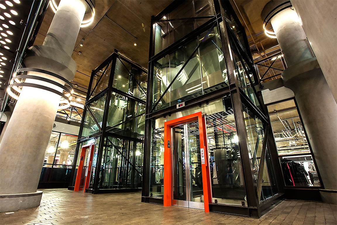 Custom commercial glass elevator for high-end shopping malls