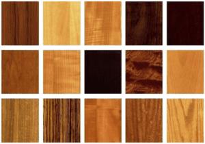 Wood veneer samples for custom elevator