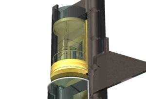 Curved panoramic lift 3D design